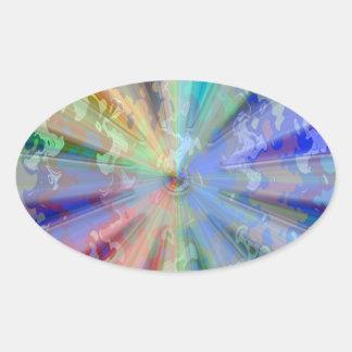 Cosmic Blueray Sparkling Jewels Oval Sticker