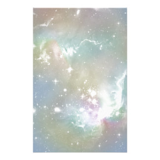 Cosmic Blues Pastel Space Art Stationery