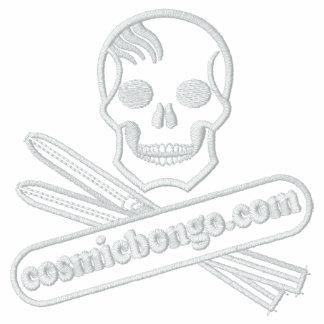 cosmic bongo logo mid layer fleece embroidered track jackets