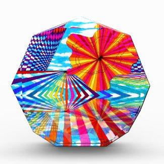 Cosmic Bright Geometric Kaleidoscope Rainbow Art Award