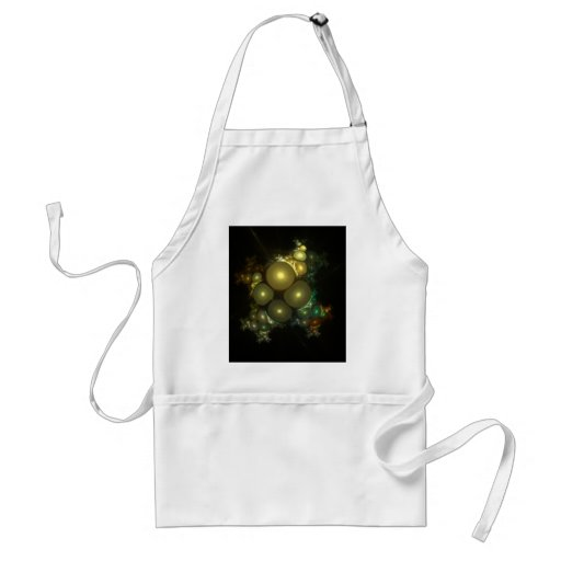 Cosmic Bubbles Abstract Fractal Design Adult Apron
