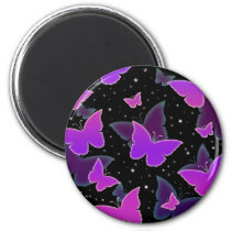 Cosmic Butterflies in Purple Magnet