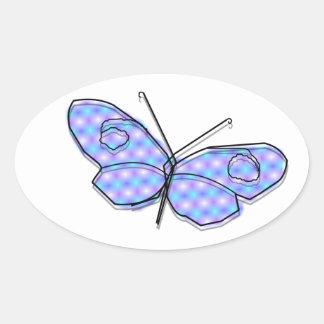 Cosmic Butterfly Oval Sticker