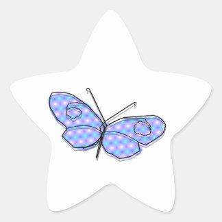 Cosmic Butterfly Star Sticker