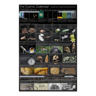 Cosmic Calendar Large Poster