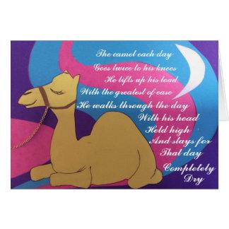 Cosmic camel poem card