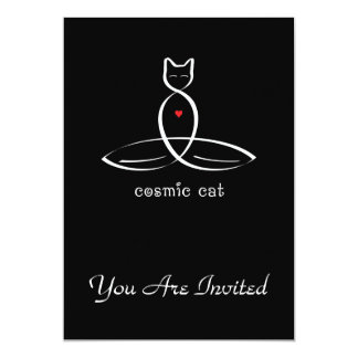 Cosmic Cat - Fancy style text. Card