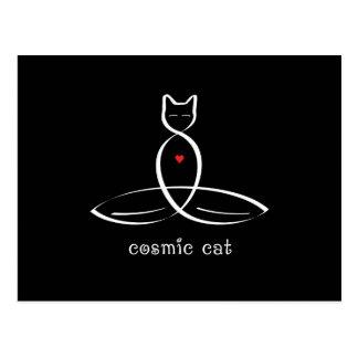 Cosmic Cat - Fancy style text. Postcard