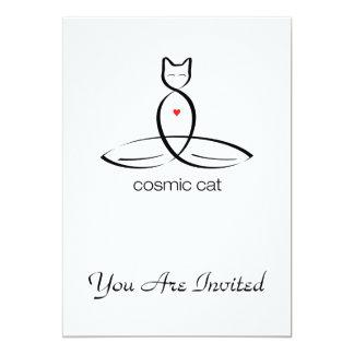 Cosmic Cat - Regular style text. Card