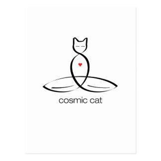 Cosmic Cat - Regular style text. Postcard