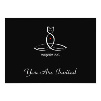 Cosmic Cat - Sanskrit style text. Card