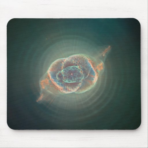Cosmic Cat's Eye Mouse Pad