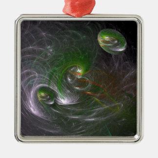 Cosmic Christmas Metal Ornament