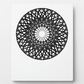Cosmic Circle Abstract Photo Plaques