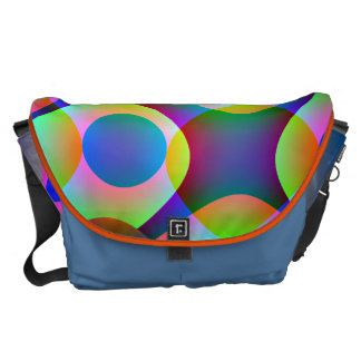 Cosmic Circles Courier Bag
