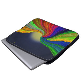 Cosmic Color Rivers Abstract Laptop Sleeve