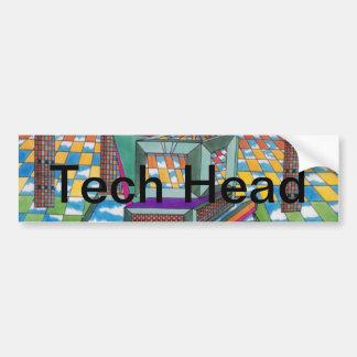 Cosmic Computer Tech Head by CricketDiane Bumper Sticker