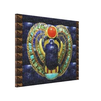 COSMIC Connection  : Egyptian PYRAMID Temple Art Canvas Print