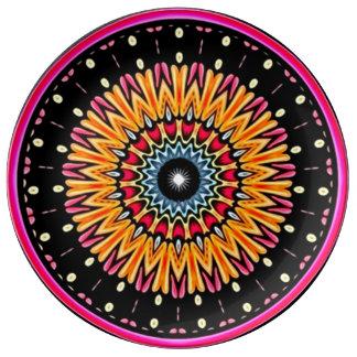 Cosmic Connection Mandala Porcelain Plate