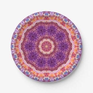 Cosmic Convergence Mandala Paper Plate