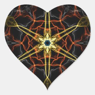 Cosmic Core Kaleidoscope Heart Sticker