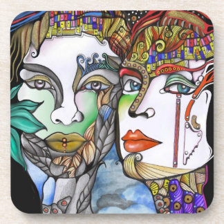 Cosmic Couple Beverage Coaster