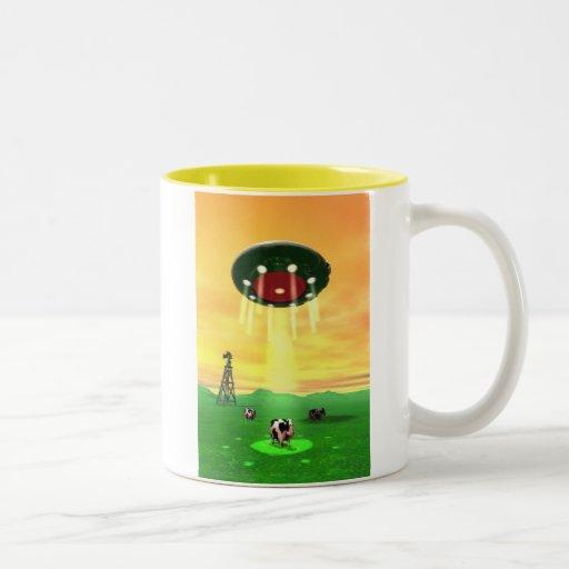Cosmic Cow Abduction Mug