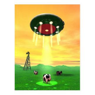 Cosmic Cow Abduction Postcard