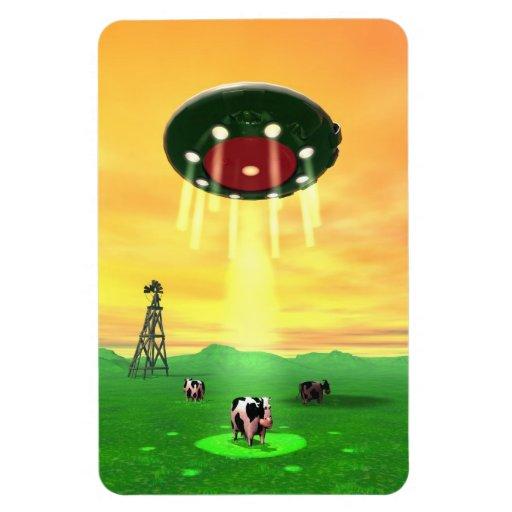 Cosmic Cow Abduction Premium Flexi Magnet