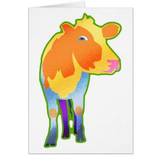 Cosmic Cow Greeting Card