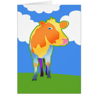 Cosmic Cow Greeting Cards