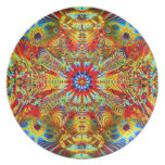 Cosmic Creatrip2 - Psychedelic trippy design Plate