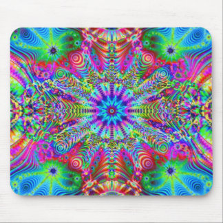 Cosmic Creatrip - Psychedelic trippy design Mouse Pad