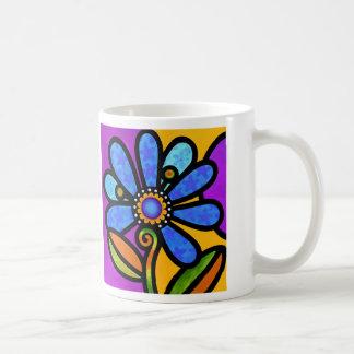 Cosmic Daisy in Blue Coffee Mug