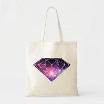 cosmic, diamond, cool, space, hipster, nebula, fashion, inspirational, geometric, boho, art, triangle, funny, geek, inspire, diamonds, bag, Bag with custom graphic design
