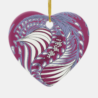 Cosmic Dragon - Heart ornaments