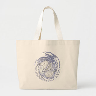 Cosmic Dragon Large Tote Bag