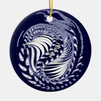 Cosmic Dragon - round ornaments