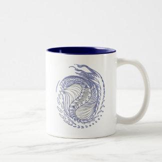 Cosmic Dragon Two-Tone Coffee Mug