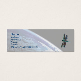 Cosmic Dragonfly, template Mini Business Card
