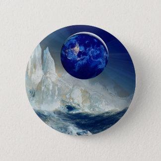 Cosmic Earth at Night and Thomas Moran Iceberg Button