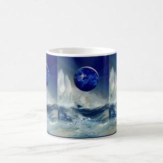 Cosmic Earth at Night and Thomas Moran Iceberg Coffee Mug