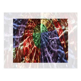Cosmic Energy - Basket Weave Pattern3 Postcard