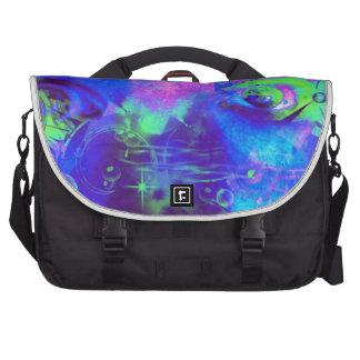 Cosmic eyes print laptop commuter bag