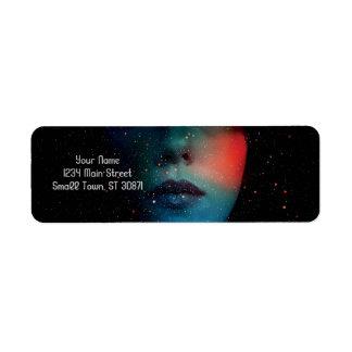 Cosmic Face in the Infinite Universe Return Address Label