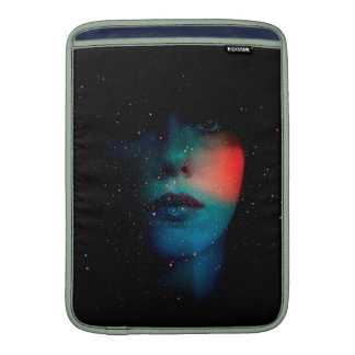 cosmic face in the infinite universe MacBook air sleeve