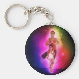 Cosmic family yoga keychain