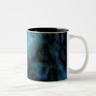 Cosmic Faux Blue Marble Two-Tone Coffee Mug