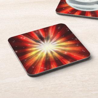 Cosmic Fire Explosion Cork Coaster