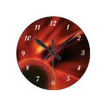 Cosmic Fire Round Wall Clock